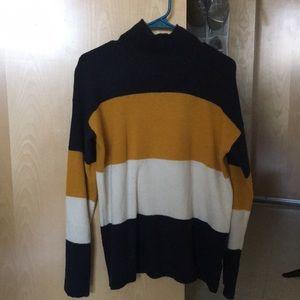 Striped turtle neck sweater!